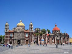 The old Basilica de la Virgen de Guadalupe, Mexico City, Mx