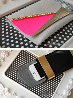 You can turn leather scraps into either an iPhone case or a wallet. | 31 Easy DIY Projects You Won't Believe Are No-Sew