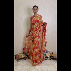 Isadora Life - Wrap In 1 Minute Saree Party Sarees, Satin Saree, Wrap Around Skirt, Pink Sandals, Saree Look, Work Sarees, Office Looks, Printed Sarees, Cotton Silk