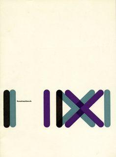 """""""Kunstnaaldwerk""""( Art Needlework ), Exhibition Catalog, Stedelijk Van Abbemuseum, Eindhoven., Designed by Wim Crouwel & Kho Liang Ie, 1957"""