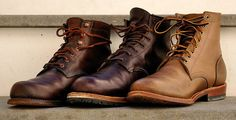 Wolverine 1000 Mile, Red Wing Gentleman Traveler, Oak Street Trench Boot: Making the work boot sexy! Dress With Boots, Jeans And Boots, Wolverine 1000 Mile Boots, Adventure Boots, Red Wing Boots, Sneaker Boots, Fall Shoes, Men S Shoes, Leather Boots
