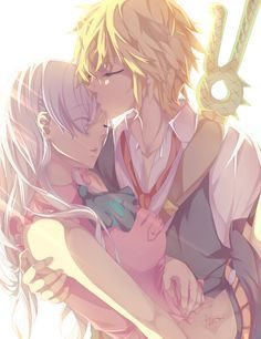 Meliodas and Elizabeth, nanatsu no taizai