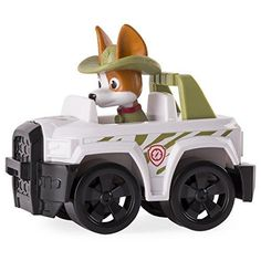 Pat Patrouille - Tracker Figurine + Vehicule - Castello | Jeux et Jouets