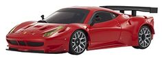 Kyosho Boys Mini-Z Auto Scale Ferrari 458 Italia GT2 Body Set - Diecast Model Cars