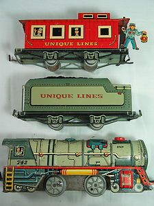 Tin Litho Benny the Brakeman Caboose Engine Tender, late 1940s to 1952