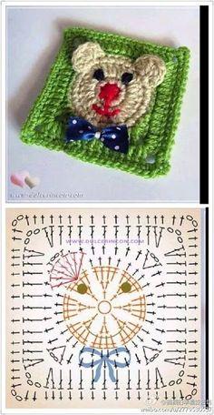 Transcendent Crochet a Solid Granny Square Ideas. Inconceivable Crochet a Solid Granny Square Ideas. Motifs Granny Square, Granny Square Crochet Pattern, Crochet Flower Patterns, Crochet Diagram, Crochet Stitches Patterns, Crochet Chart, Crochet Squares, Crochet Granny, Baby Knitting Patterns