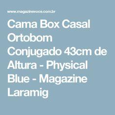 Cama Box Casal Ortobom Conjugado 43cm de Altura - Physical Blue - Magazine Laramig