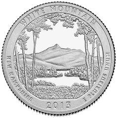 White Mountain National Forest Quarter - via OhRanger.com.