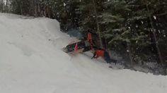 Failed Snowmobile Hill Climb