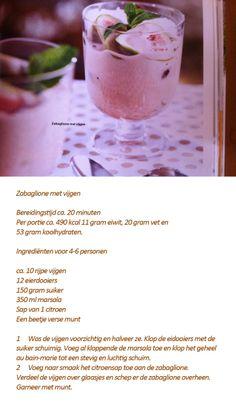 Zabaglione met vijgen, recept van Foodies mei 2014