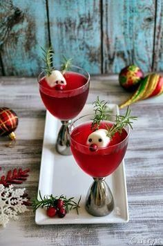 Rudolphs Cranberry Fizz--A fun Cocktail for the Holidays uTry.it