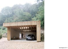 Stylish carport. Simple way of covering a plain leanto shed.
