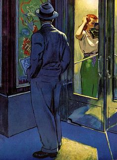 Al Parker, brings to mind EDWARD HOPPER