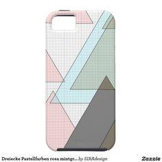 Dreiecke Pastellfarben rosa mintgrün Braun milimet Hülle Fürs iPhone 5