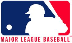 Major League Baseball Primary Logo (1970) - A white batter in a red and blue box with script
