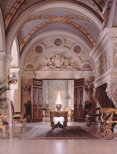 the breakers mansion | The finest of materials were used by the greatest craftsmen of the era ...