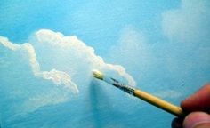 clouds tutorial (part of a whole series on painting a scenic picture. Made for beginners. Even provides a supply list. Good starter for those learning on their own).***LL