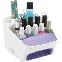 This Nail Station is designed to help you decorate your nails while keeping all of your supplies neatly stored and organized. Diva Nails, My Nails, Nail Station, How To Introduce Yourself, Make It Yourself, Nail Polish Storage, Cosmetic Sets, Nail Accessories, Nail Decorations