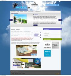 Webdesign with posts slider and banners. www.markyzy.eu