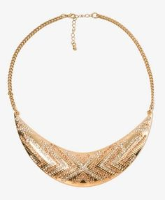Rhinestoned Boomerang Bib Necklace | FOREVER 21 - 1022323936