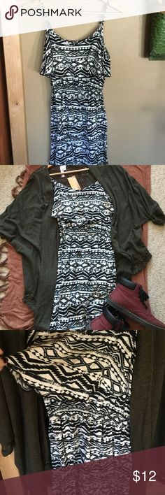 Tribal Print Dress Cute and flowy! Great to pair with a cardigan Dresses Mini