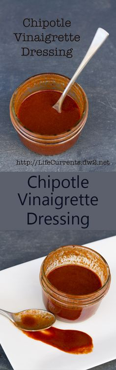 This Chipotle Vinaigrette Dressing packs a spicy kick for your yummy salad! It's easy to make, and it stores well in the fridge. Go ahead, kick up your salad a couple notches! Vinaigrette Dressing, Dressing Recipe, Chipotle Dressing, Sauce Recipes, Cooking Recipes, Appetizer Salads, Appetizers, Canning Vegetables, Sauces