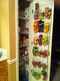 Great way to store fruits and vegtables