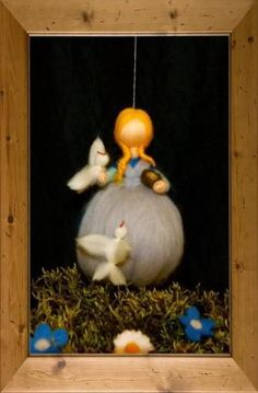 Aschenputtel,Märchen,Filzfigur von Sandras Wunderland auf DaWanda.com