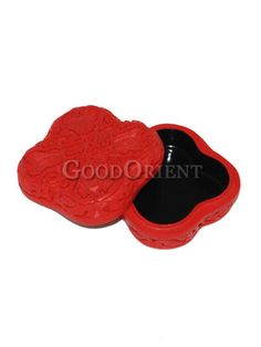Red Carved Lacquer Jewelry Box /23.00