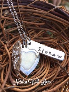 Personalized Hand Stamped Breast Milk Necklace by Nestledwithlove