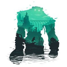 Shadow of the Colossus art Shadow Of The Colossus, Video Game Posters, Video Game Art, Video Games, Last Shadow, Shadow Art, Dark Souls, Animes Wallpapers, Legend Of Zelda