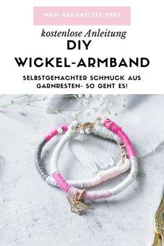 Armband DIY- Schnelles DIY Projekt für Garnresten Cheap Fashion, Diy Fashion, Fashion Jewelry, Cheap Designer Clothes, Armband Diy, Simple Bracelets, Diy Pins, Diy Schmuck, The Body Shop