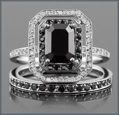 Useful Black Diamond Wedding Band With Engagement Ring More Design  http://articleall.com/black-wedding-band/black-diamond-wedding-band-with-engagement-ring/