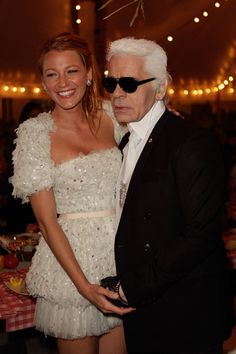 My two favorite living people [Blake Lively & Karl Lagerfeld]
