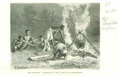 Indigenous Picnic Queensland North Australia Australie GRAVURE OLD PRINT 1888 | eBay