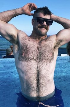 Hairy Hunks, Hairy Men, Bearded Men, Male Pattern Baldness, Great Beards, Bald Men, Beard Balm, Muscular Men, Hairy Chest