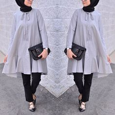 While it's pretty easy to stay covered and wear modest outfits in winters, Hijab Chic, Hijab Casual, Hijab Dress, Hijab Outfit, Muslim Dress, Hijab Fashionista, Modest Summer Fashion, Summer Fashion Trends, Abaya Style