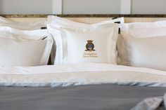 Luxurious sham with a soft and silky feel in sateen quality and with the Lexington Superior embroidery at the front. Made of Egyptian cotton in a quality referred to as the Superior Sateen. Lexington Company, Lexington Home, Grey Bedding, Luxury Bedding, New England Style, Interior Inspiration, Bedroom Inspiration, Egyptian Cotton, Table Linens