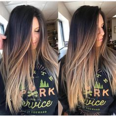 Are you going to balayage hair for the first time and know nothing about this technique? We've gathered everything you need to know about balayage, check! Ombre Hair Brunette, Ombre Hair Color For Brunettes, Brown Hair Balayage, Brunette Color, Balayage Brunette, Brown Hair Colors, Hair Highlights, Ash Blonde, Dark Ombre Hair