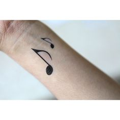 Spirit Ink Temporary Tattoo - Eighth Note (€1,79) ❤ liked on Polyvore featuring accessories, body art, tattoos, tatoos, other and tattos