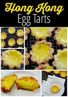 Hong Kong Egg Tarts - a popular pastry in China, Taiwan, Macau, Hong Kong and at dim sum restaurants. An easy and delicious taste of Asia!   thehungrytravelerblog.com