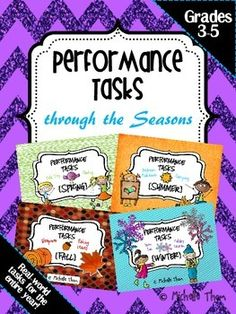 Performance Tasks Through the Seasons give you real-life tasks for the entire year! Performance Tasks are a great way to assess your students' problem solving and real-life application skills. $