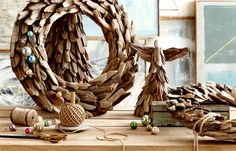 Driftwood Wreath Carefully selected natural driftwood pieces are artfully arranged to create our Driftwood Wreath. Accent your Christmas Décor or use year round. Each is hand-made and unique by nature.