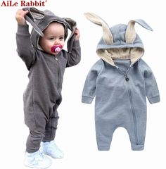 GEMTOT New Spring Autumn Baby Rompers Cute Cartoon Rabbit Infant Girl Boy Jumpers Kids Baby Outfits Clothes for years old Toddler Jumpsuit, Baby Jumpsuit, Baby Boy Romper, Baby Onesie, Baby Dress, Baby Outfits, Newborn Outfits, Kids Outfits, Newborn Boy Clothes