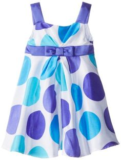 Rare Editions Little Girls' Woven Dot Print Dress, White/Purple/Aqua, 5 Rare Editions http://www.amazon.com/dp/B00INZOPMS/ref=cm_sw_r_pi_dp_fBIjub0Q08FYN