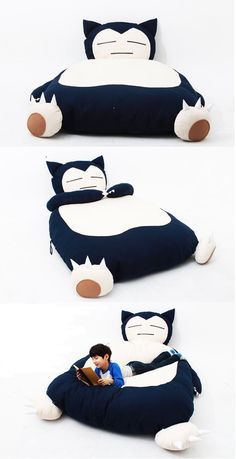 Awesome Snorlax Couch!!!   #pokemon #snorlax #bed #gift #pouf #couch