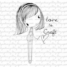Love To Craft by alldressedupstamps on Etsy