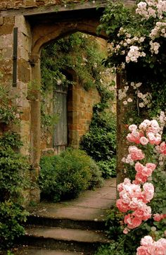 Roses Gardening Secret Garden Cottage Landscape/Yard - Found on Zillow Digs - The Secret Garden, Secret Gardens, Garden Cottage, Tuscan Garden, Rose Cottage, Parcs, Garden Gates, Garden Entrance, Garden Archway