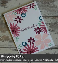 Julie Kettlewell - Stampin Up UK Independent Demonstrator - Order products 24/7: Easy Blooms and Wishes