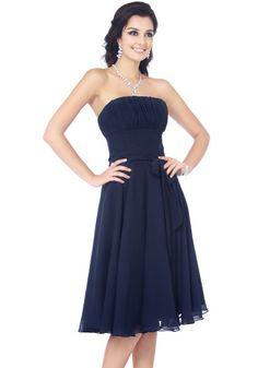 Chiffon A-Line Blue Bridesmaid Dresses